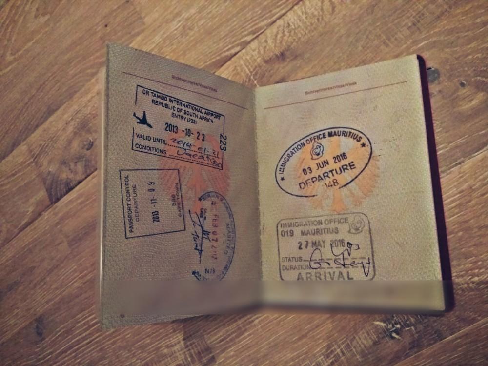 passport from a traveller